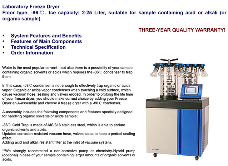 Freeze dryer acid-gold-sim